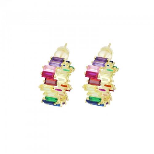 Orecchini Baguette Rainbow