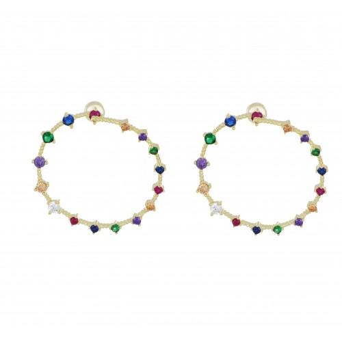 Orecchini Circolari Rainbow