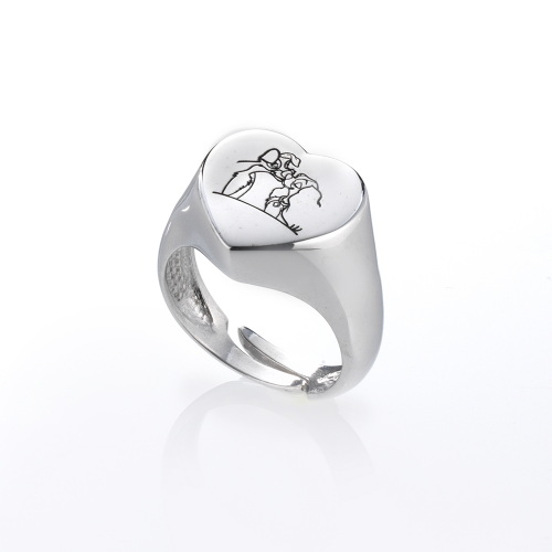 Anello Heart Cartoon