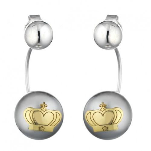 orecchini perla e corona